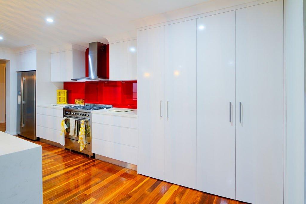 contemporary kitchen with mass storage