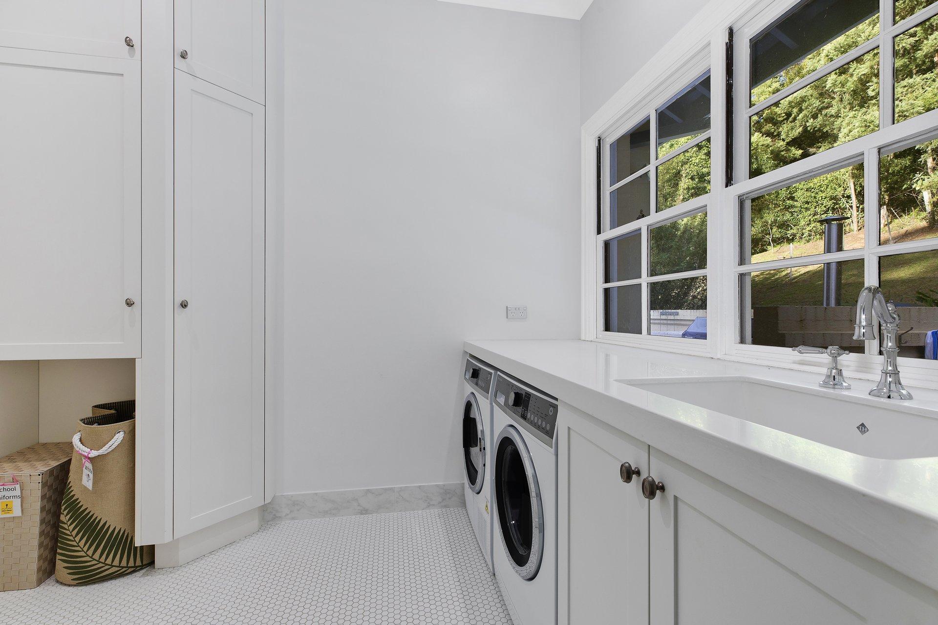 laundry and vanity