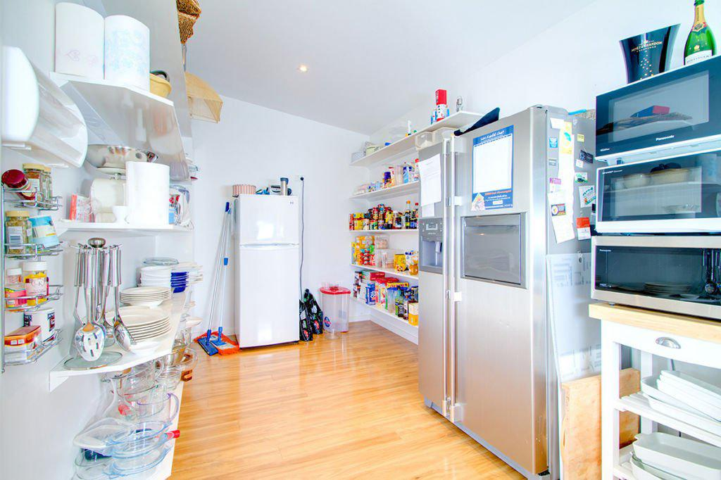 contemporary kitchen storage pantry room