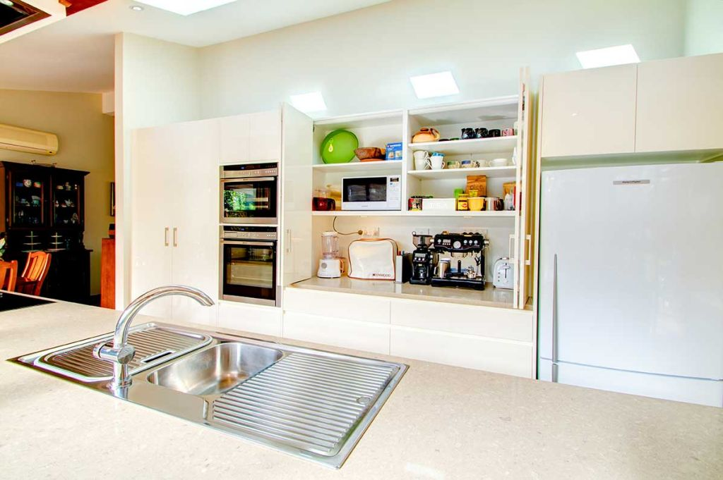 contemporary kitchen island and sink
