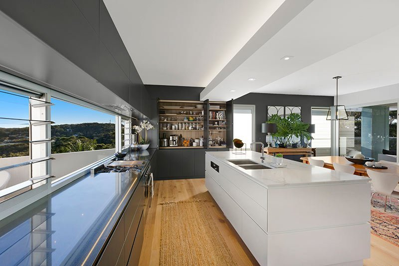 Contemporary kitchen at 56 Del Monte Place
