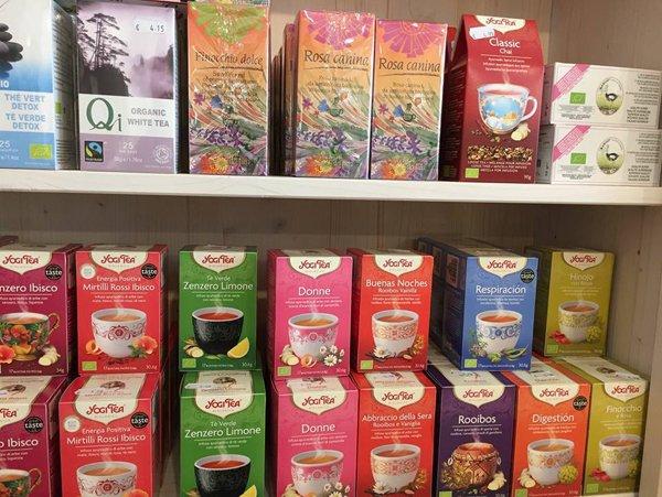 confezioni di tè biologici