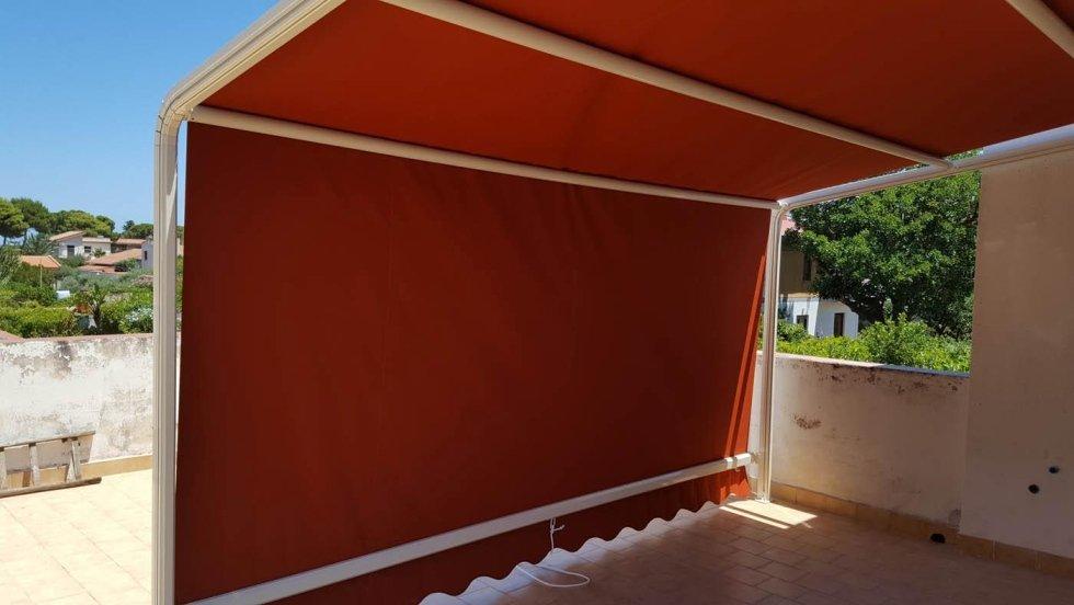 tenda con struttura