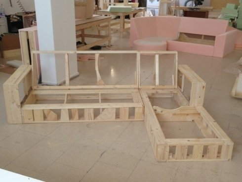 Creazione struttura divano