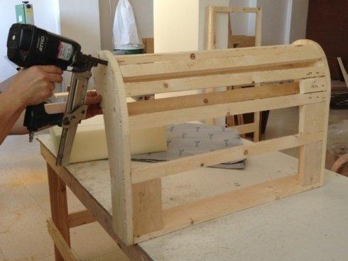 Assemblaggio assi di legno
