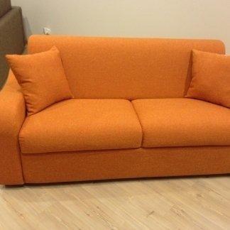 Divano in tessuto arancione