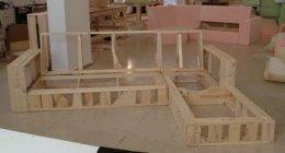 Telaio in legno per divani