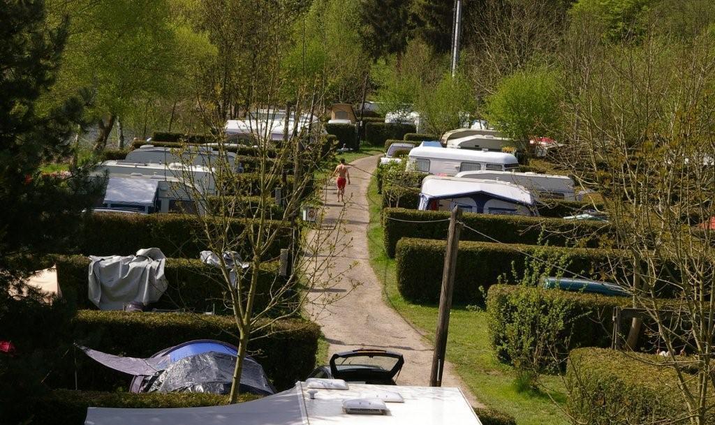 De camping in het midden van de natuur in de Belgische Ardennen