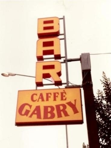 Insegna caffè Gabry