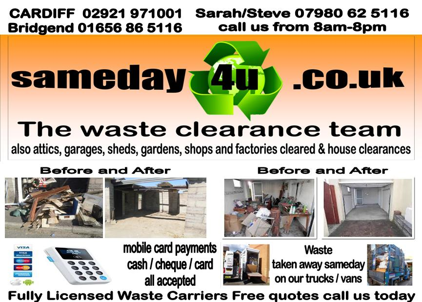 sameday 4u waste clearance cardiff