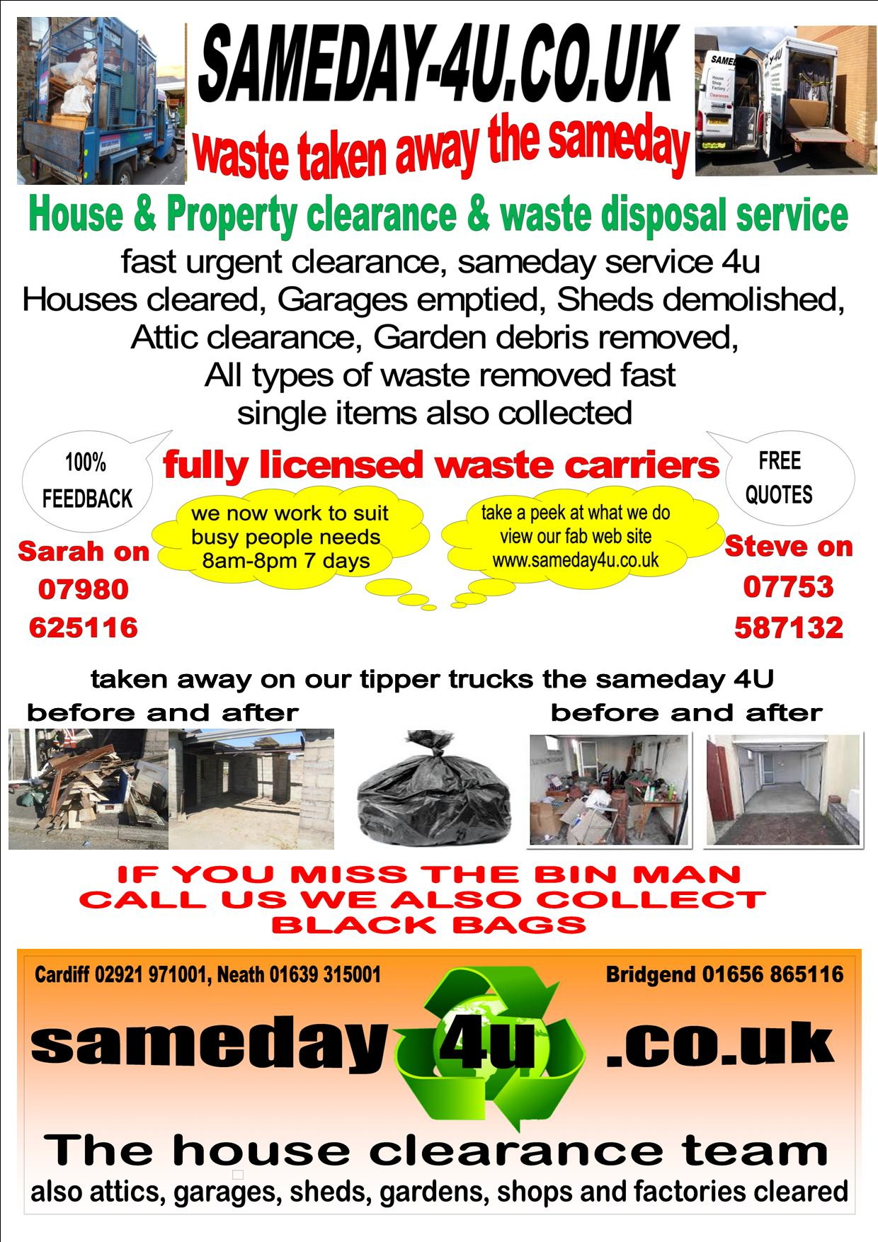 waste clearance Cardiff