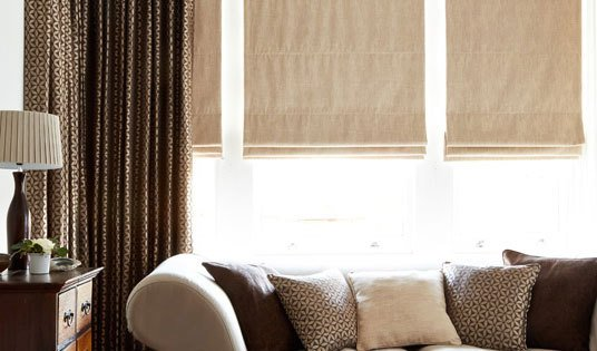 Neutral coloured blinds