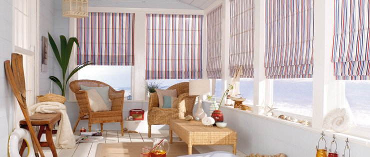 Roller blinds lavender