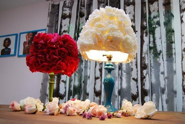 lampade con rose