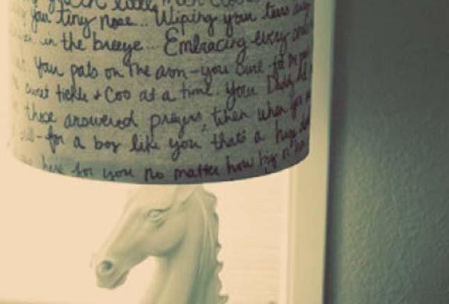 lampada con scritte