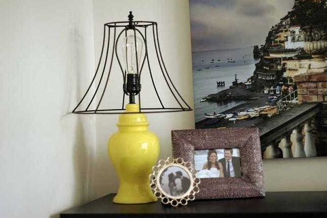 lampada particolare in ferro battuto
