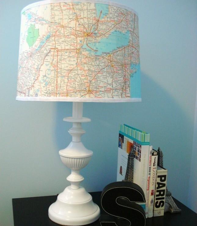 lampada con cartina