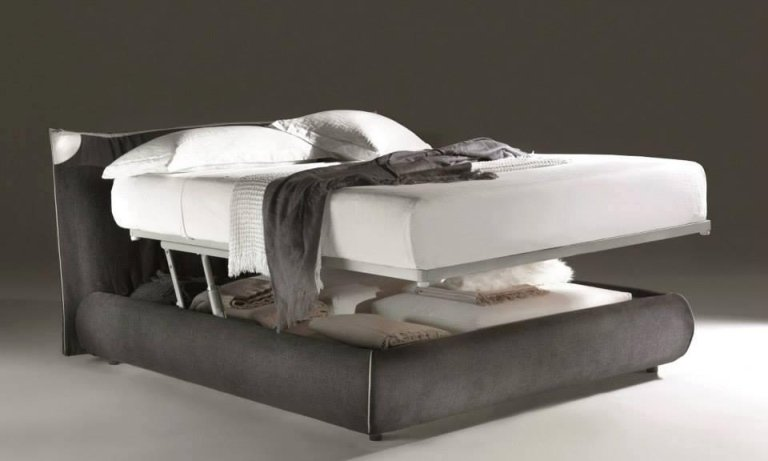 letto con cassettoni salva spazio