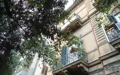 vista della facciata di una casa
