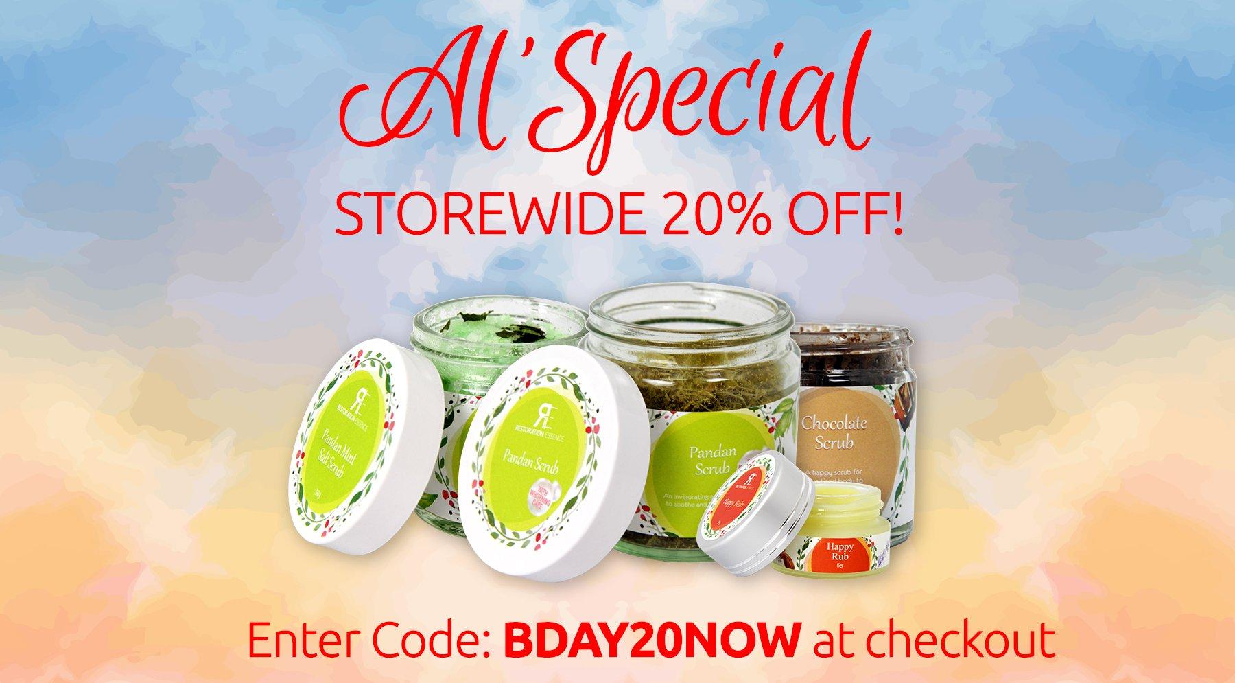 Storewide 20% off!