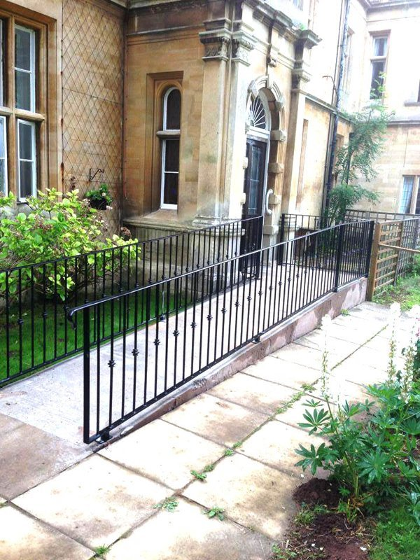 narrow walkway railing