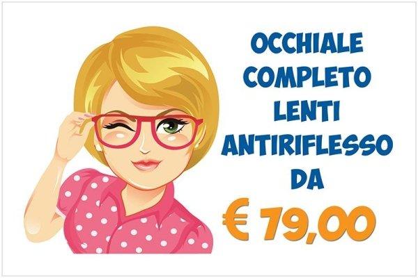 occhiale completo lenti antiriflesso
