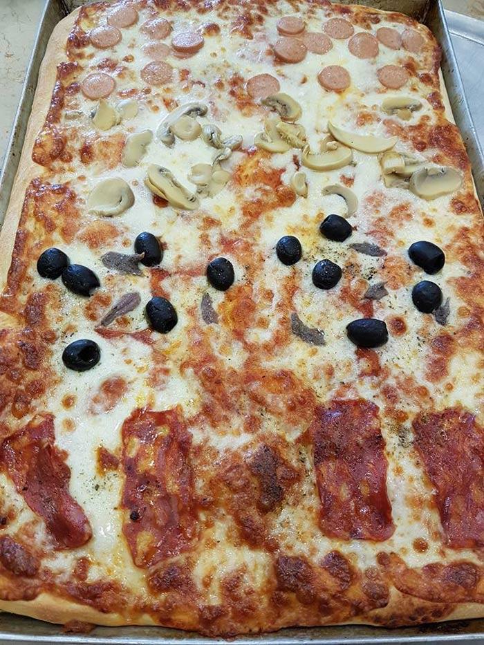 pizza al tagliere quattro stagioni