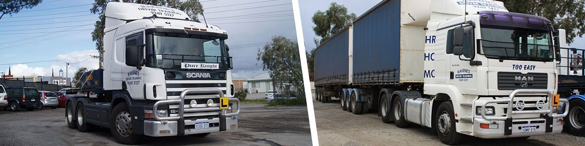 makenes driving school learning trucks