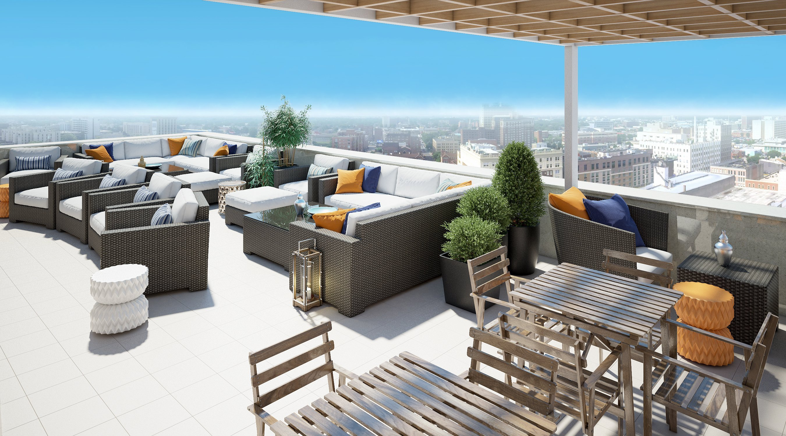 Vue at 3rd Living Room at Rooftop