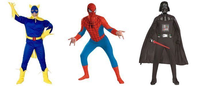 Spiderman and Darth Vader costumes in St Albans