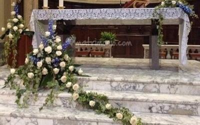 Rami fioriti chiesa