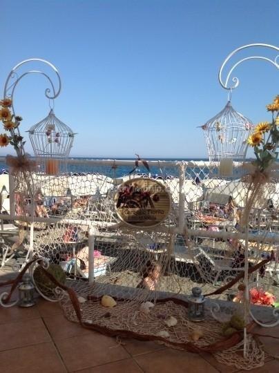 Allestimento spiaggia Genova Liguria
