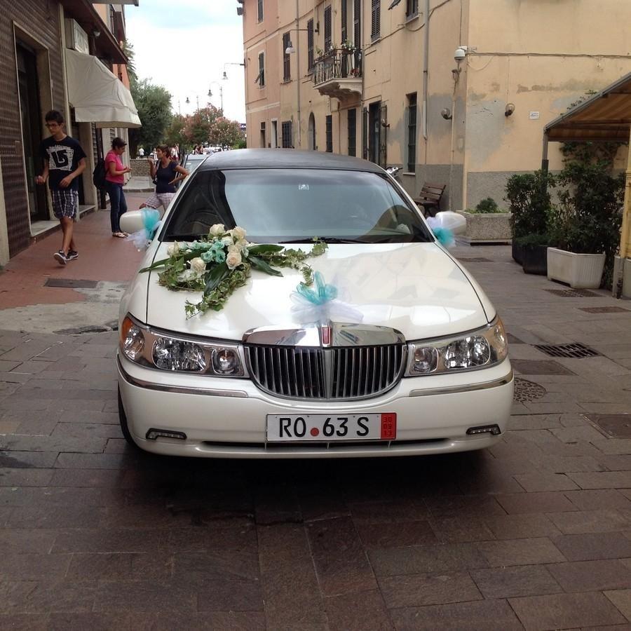 addobbo macchina sposi Genova