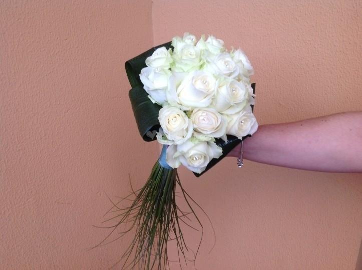 Bouquet con coda di verde