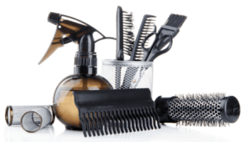 pettine, forbici, attrezzature, parrucchieri