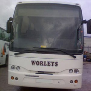 front view of the worley bus