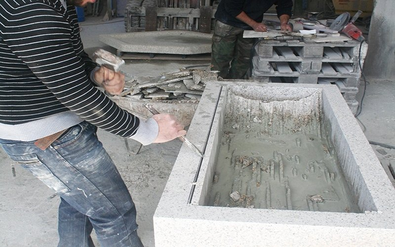 lavorazione marmo catini