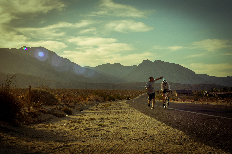 Long, hot road.