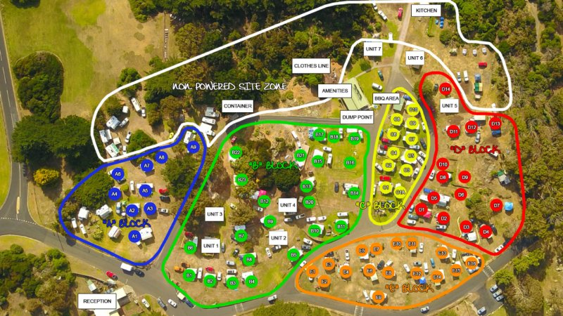 Campsites | Devonport, TAS | Mersey Bluff Caravan Park