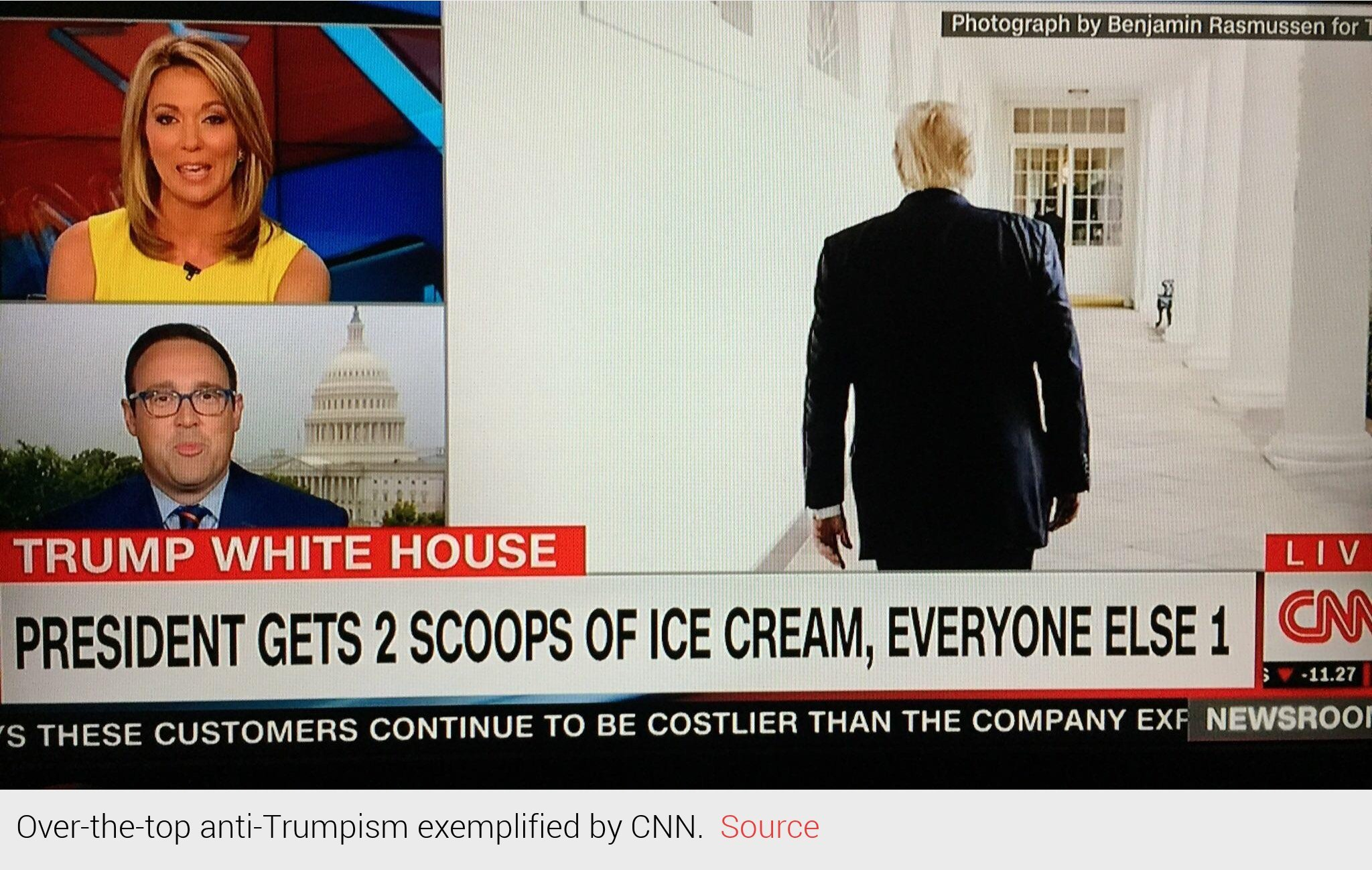 Over-the-top Anti-Trumpism exemplified by CNN