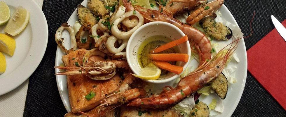 Menu di pesce Novara