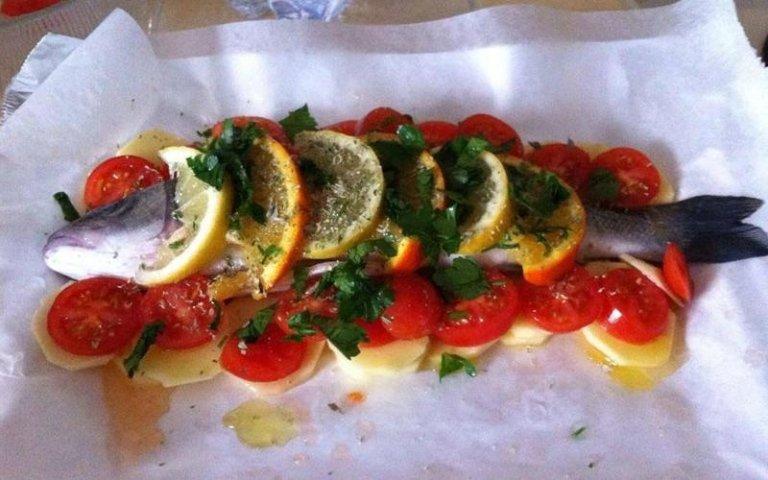 Secondi piatti: pesce al cartoccio