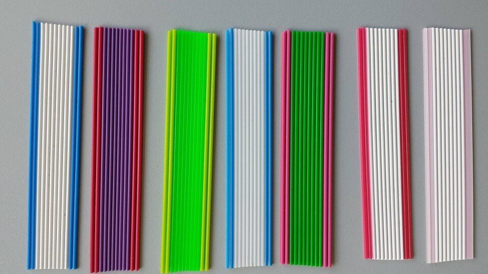 Cintine in PVC bicolore