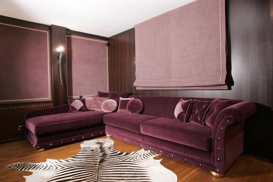 divano chaise longue viola