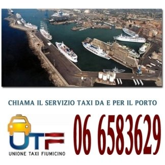 taxi per il porto roma