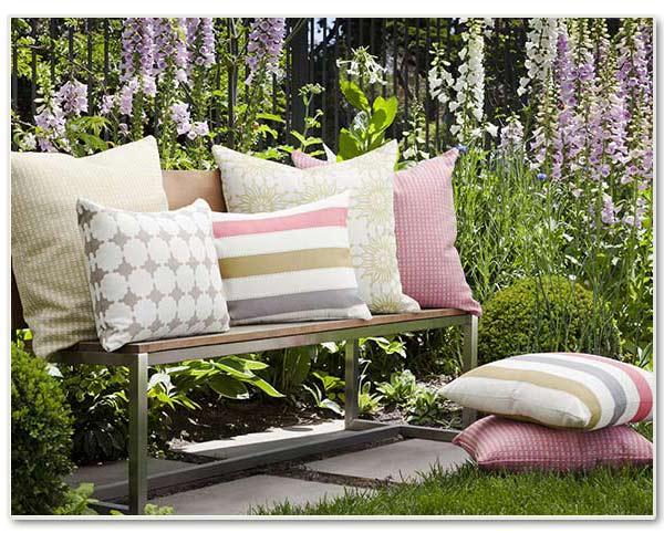 roslay window furnishings new cushions in garden