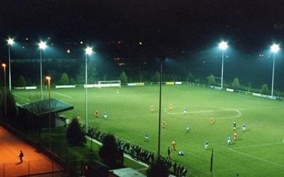 impianto illuminazione per campo sportivo a led