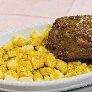 gnocchi di patate con arrosto