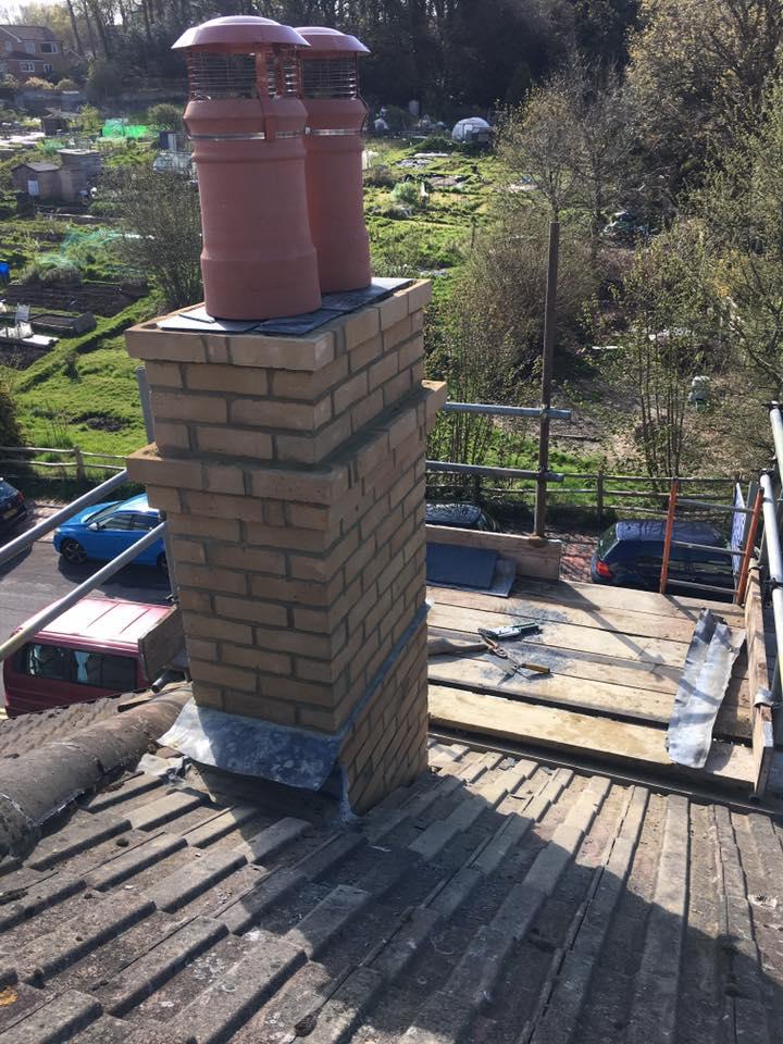 Roofing repair work