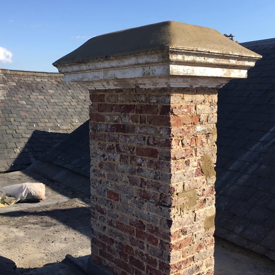 Chimney renovation work